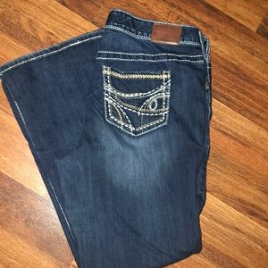 Maurices premium thick stitch boot cut Jeans 18